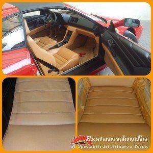 rigenerazione pelle in interni auto d'epoca