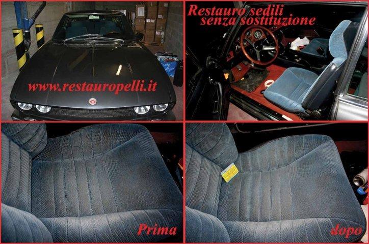 Restauro interni auto rigeneriamo la pelle e plastica a Torino